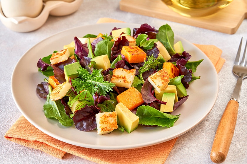 Halloumi Avocado and Lime Salad
