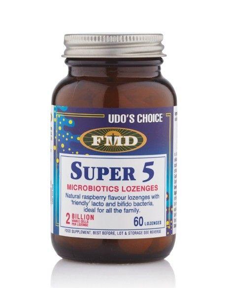 Udo's Choice® Super 5 Microbiotic  - 60 Lozenges