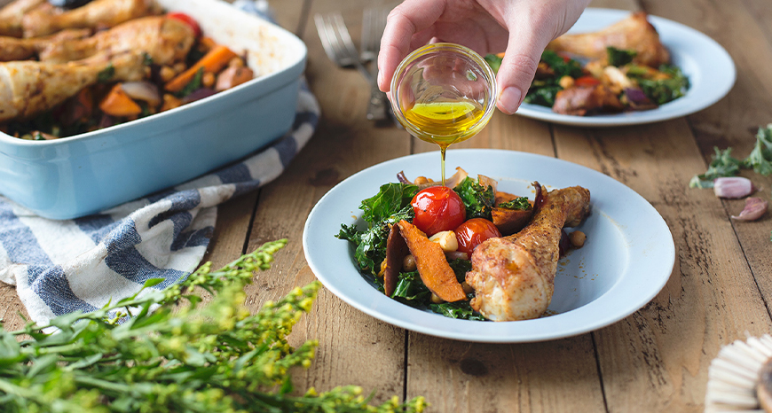 Chicken, Sweet Potato and Kale One Pot